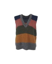 Black Colour LISS Stribed vest 3780