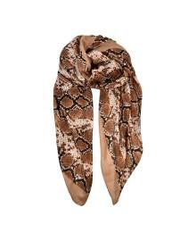 Black Colour PYTHON scarf ocher 198009