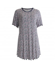 Lady Avenue Bamboo Short-sleeve Nightdress 66-105