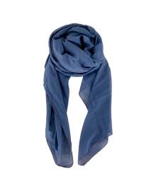 Black Colour EMMA plain scarf blue 198136BU