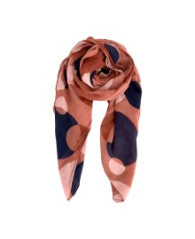 Black Colour APU Dot Scarf Rose 208006RO