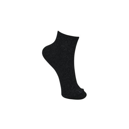 Black Colour Anclet Glitter Sock Black 4115BL