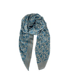 Black Colour Jasmine Scarf Skyblue 208017SK