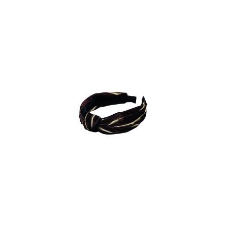 Black Colour Velvet headband wine stripe 9928WS