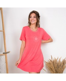Lady Avenue Bamboo Short Sleeve Nightdress 66-202