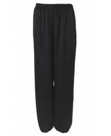Black Colour ZITA Balloon Satin Pants 3797
