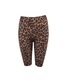 Black Colour LYNN Leo Tight Shorts 3733